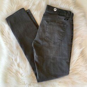 Lucky Brand Charlie Skinny Gray Jeans, 6